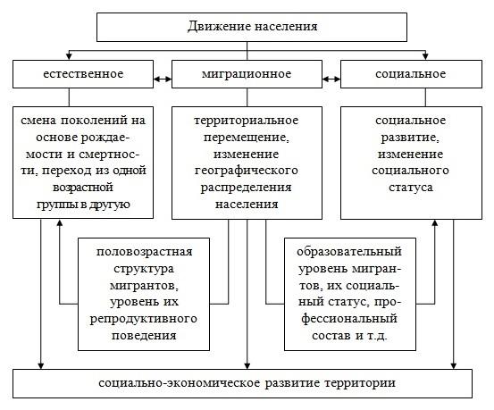 Движение населения: понятие, виды, функции